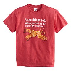 Boys 8-20 Bacon Snaccident Tee