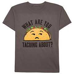 Boys 8-20 'What Are You Tacoing About' Tee