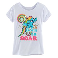 Girls 7-16 My Little Pony Rainbow Dash 'Born To Soar' Tee