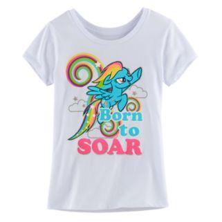 "Girls 7-16 My Little Pony Rainbow Dash ""Born To Soar"" Tee"