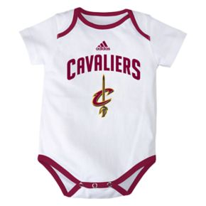 Baby adidas Cleveland Cavaliers 3-Pack Bodysuit Set