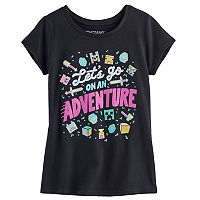 Girls 7-16 Minecraft On An Adventure Tee