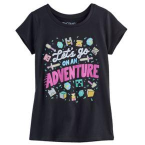 Girls 7-16 Minecraft On An Adventure Tee