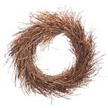 Darice Indoor / Outdoor Artificial Grapevine Shag Twig Wreath