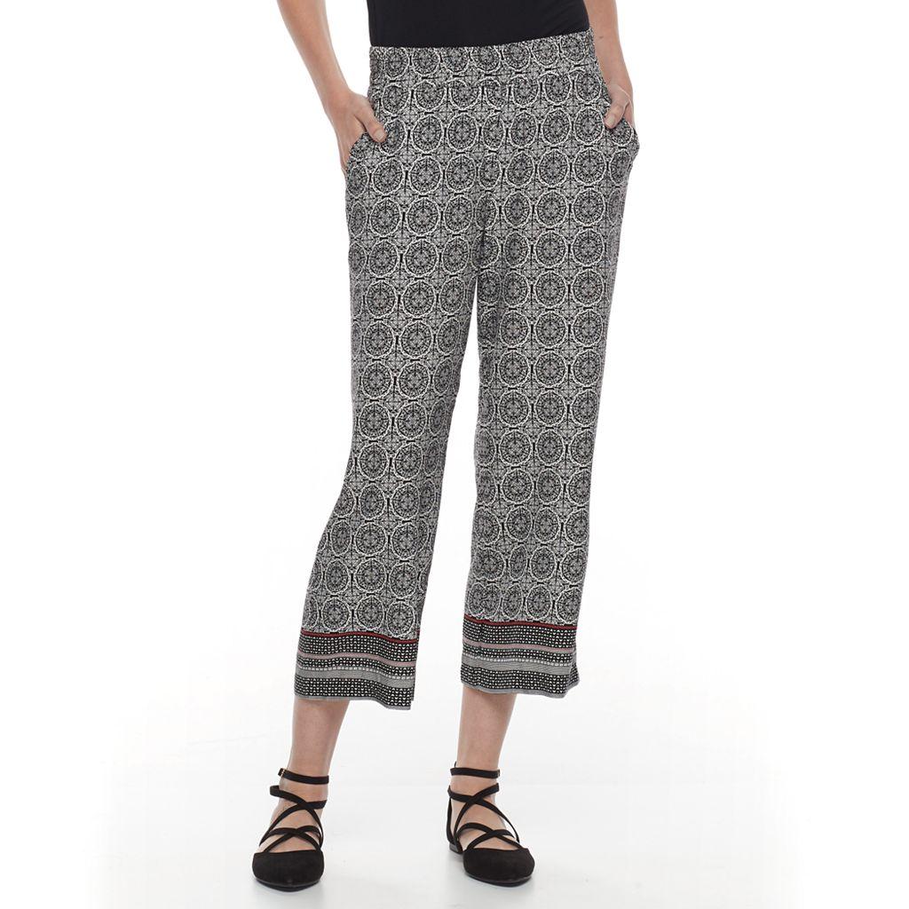 Women's Dana Buchman Print Challis Crop Pants