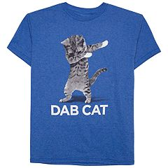 Boys 8-20 Dab Cat Tee