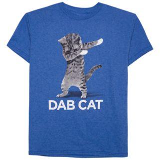 Boys 8-20 Dab Cat Tee
