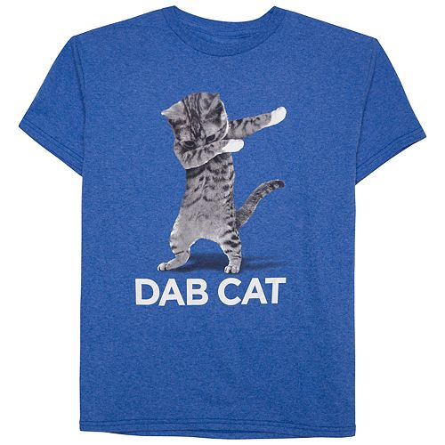 Boys 8 20 Dab Cat Tee
