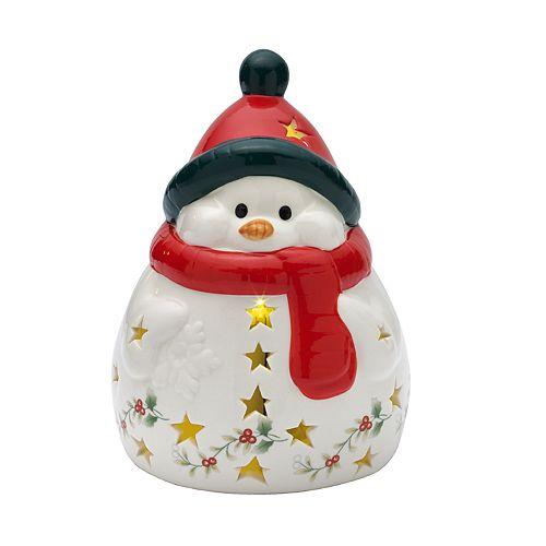 Pfaltzgraff Winterberry LED Light-Up Snowman