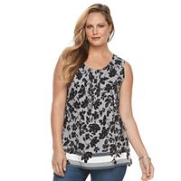 Plus Size Croft & Barrow® Pintuck Tank