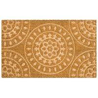 Mohawk® Home Embossed Medallion Coir Doormat - 18'' x 30''