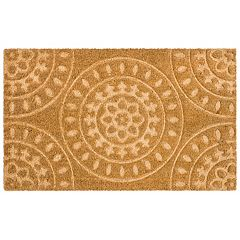 Mohawk® Home Embossed Medallion Coir Doormat - 18'' x 30''