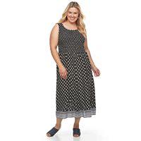 Plus Size Croft & Barrow® Smocked Challis Dress
