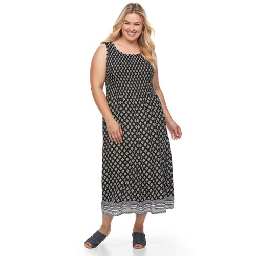 Plus Size Croft Barrow Smocked Challis Dress