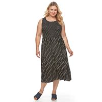 Plus Size Croft & Barrow® Smocked Challis Dress