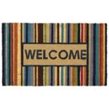 Mohawk® Home ''Welcome'' Vivid Striped Coir Doormat - 18'' x 30''