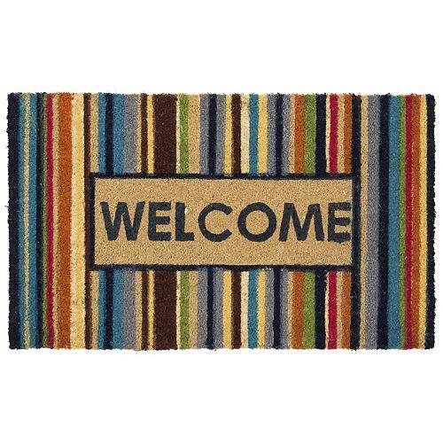 Mohawk® Home ''Welcome'' Vivid Striped Coir Doormat - 18'' x 30''