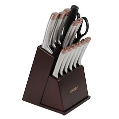 Oneida 14 pc Stainless Steel & Copper Cutlery Set