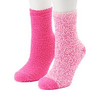 Women's SO® 2-pk. Marled Cozy Crew Slipper Socks
