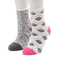 Women's SO® 2-pk. Cozy Crew Slipper Socks