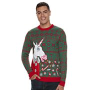 Men's Unicorn Light-Up Ugly Christmas Sweater