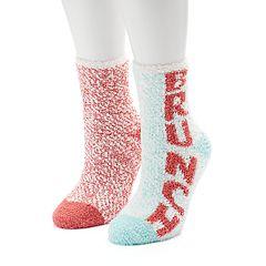 Women's SO® 2 pk'Brunch' Cozy Crew Slipper Socks