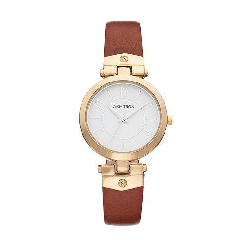 Armitron Women's Leather Watch - 75/5338WTGPBN