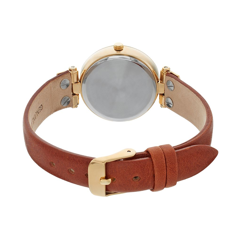 Armitron Women's Leather Watch - 75/5338WTGPBN