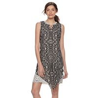 Women's Dana Buchman Lace-Up Chiffon Dress