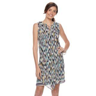 Women's Dana Buchman Lace-Up Chiffon Dress