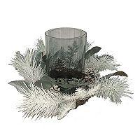St. Nicholas Square® Artificial Pine & Eucalyptus Hurricane Candle Holder