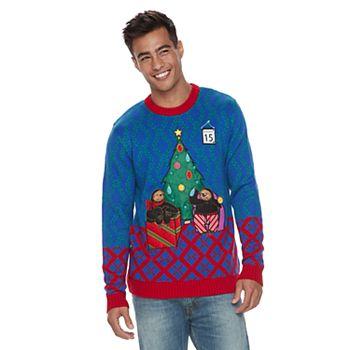 Sloth Ugly Christmas Sweater.Men S Sloth Light Up Ugly Christmas Sweater