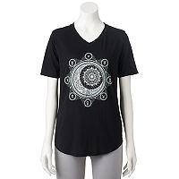 Juniors' Awake Zodiac Moon V-Neck Graphic Tee