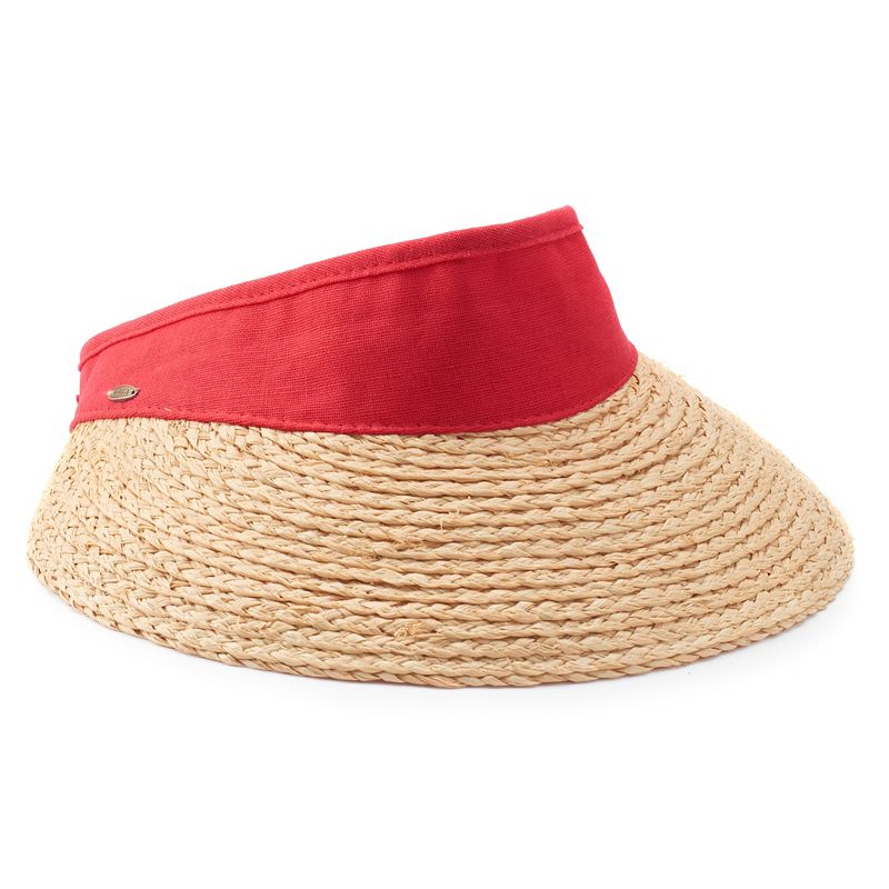 107c83e4 ... Coral, UPC 016698341912 product image for Woven Raffia Visor, Women's,  Orange | upcitemdb.com ...
