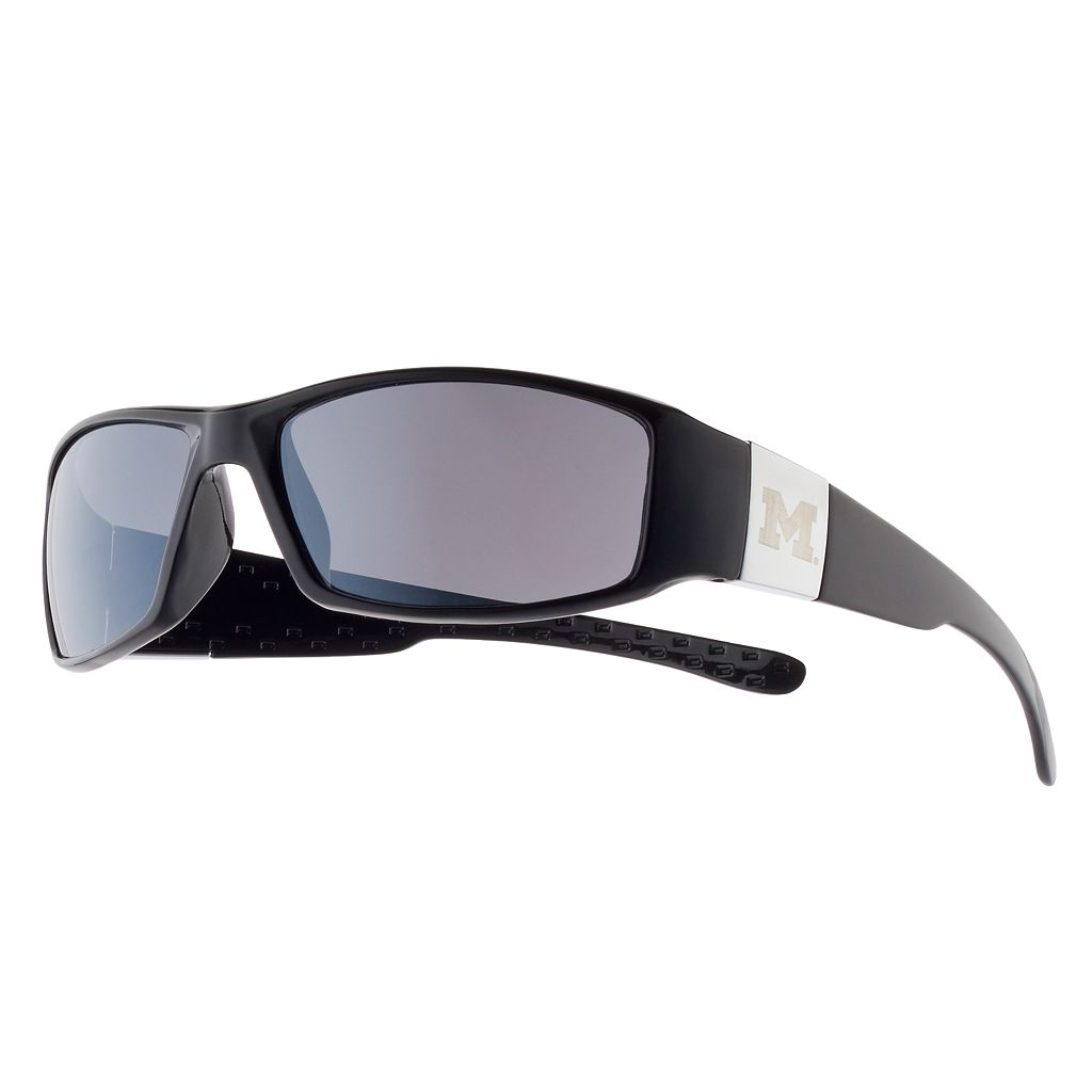 Adult Michigan Wolverines Chrome Wrap Sunglasses