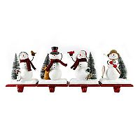 St. Nicholas Square® Snowman Christmas Stocking Holder 4-piece Set