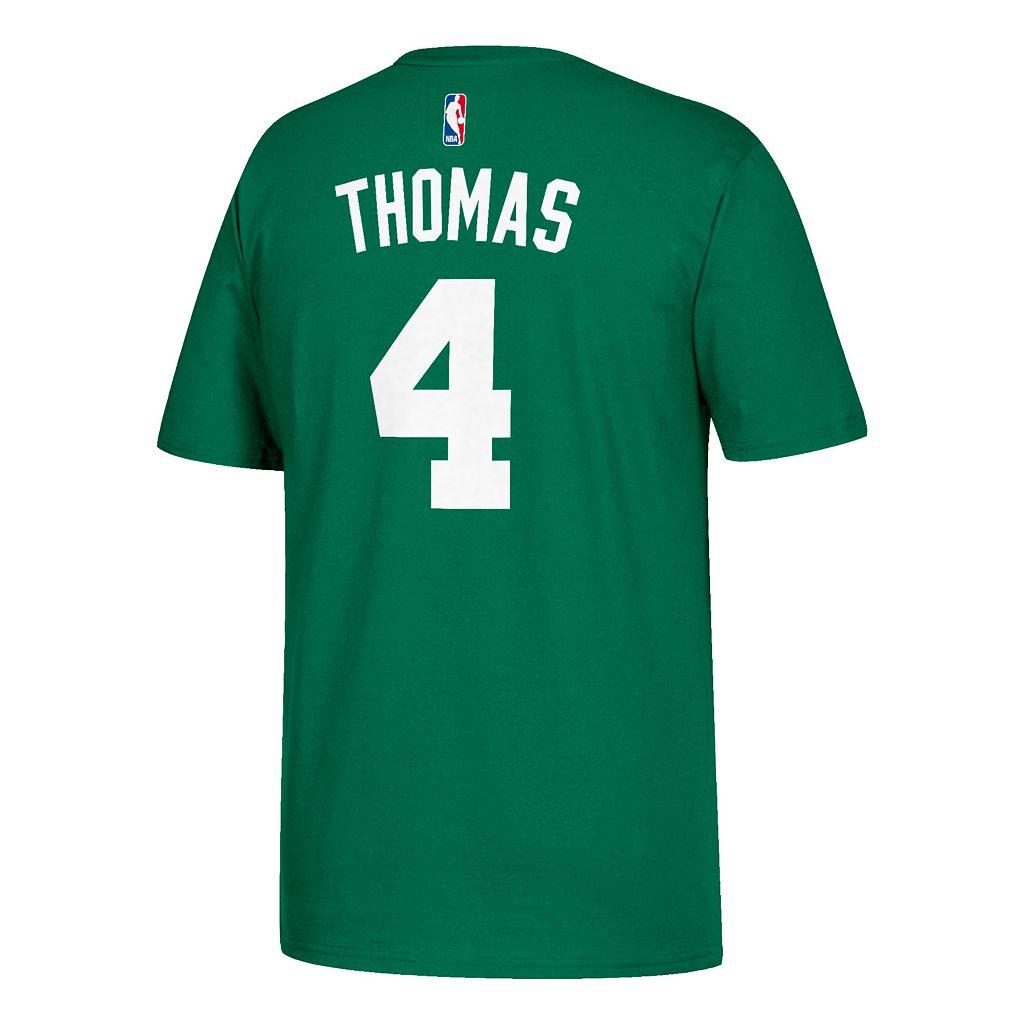 Men's adidas Boston Celtics NBA Playoffs Isaiah Thomas Name and Number Tee