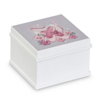Mele & Co. Kirsten Wooden Musical Ballerina Jewelry Box