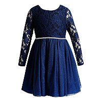 Girls 4-6X Youngland Lace Bodice Knit Dress