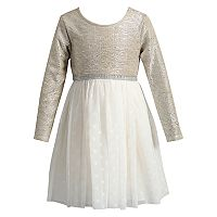 Girls 4-6X Youngland Metallic Dress