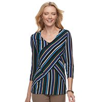 Women's Dana Buchman Print Bias Cut V-Neck Top