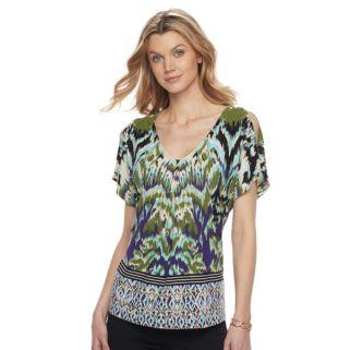 Women's Dana Buchman Cold-Shoulder Top
