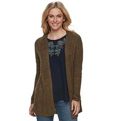 Women's SONOMA Goods for Life™ Sparkle Cable Knit Cardigan