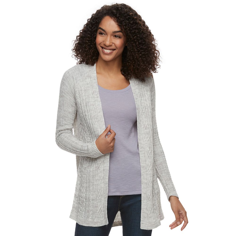 SONOMA Goods for Life™ Sparkle Cable Knit Cardigan