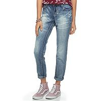 Juniors' Hydraulic Bailey Sequin Pocket Skinny Boyfriend Jeans