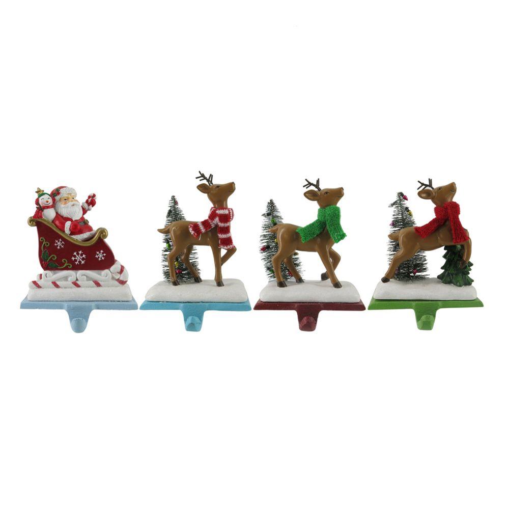 nicholas square santa u0026 reindeer christmas stocking holder 4