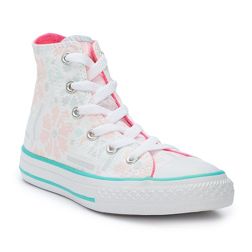 0d0eab424e58 Girls  Converse Chuck Taylor All Star Winter Floral High Top Sneakers