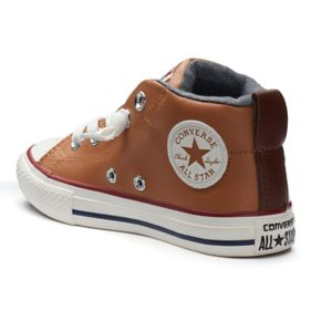 Kid's Converse Chuck Taylor All Star Street Mid Leather Sneakers