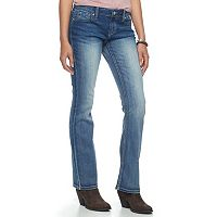 Juniors' Hydraulic Bailey Faded Slim Bootcut Jeans