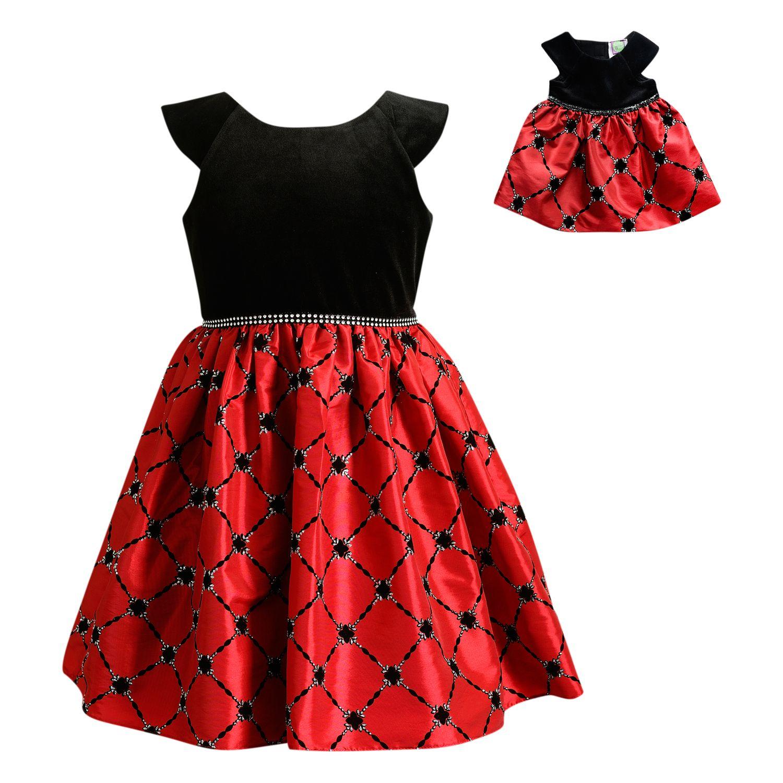 Red dress age 7 8 x 14 die